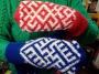 Варежки с обережным славянским орнаментом