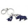 "Амулет -брелок ""Синий носорог со слоном"""